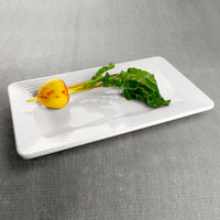 Elite Global Solutions M918RR-W Pebble Creek 18 inch x 9 inch Rectangular White Melamine Tray