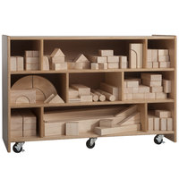 Whitney Brothers WB0515 Children's Medium Wood Storage Cart - 38 inch x 14 inch x 25 1/4 inch