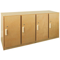 Whitney Brothers WB0716 Locking Four-Section Storage Cabinet - 15 11/16 inch x 47 1/2 inch x 24 11/16 inch
