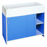 Whitney Brothers WB0721 44 1/2 inch x 21 1/2 inch x 38 1/2 inch Easy Clean Blue Infant Changing Cabinet