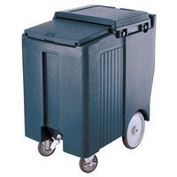 Cambro ICS175TB401 SlidingLid Slate Blue Portable Ice Bin - 175 lb. Capacity Tall Model