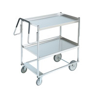 Vollrath 97202 Heavy-Duty Stainless Steel 2 Shelf Utility Cart - 44 inch x 23 inch x 44 1/2 inch