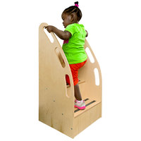Whitney Brothers WB0088 19 inch x 16 inch x 35 1/2 inch Children's Wood Step-Up Tall Stairs