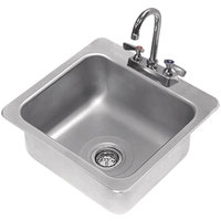 Advance Tabco DI-1-168 Drop In Stainless Steel Sink - 16 inch x 14 inch x 8 inch Bowl