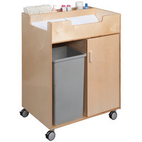 Whitney Brothers WB0634 31 1/2 inch x 23 1/2 inch x 38 inch Easy Access Wood Changing Cabinet