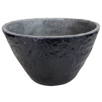 Elite Global Solutions M10578R-CO Basalt 4.2 Qt. Round Coal Melamine Serving Bowl