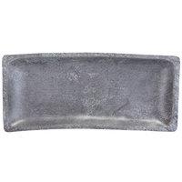 Elite Global Solutions M1671RC-CO Basalt 16 1/8 inch x 7 inch Rectangular Coal Melamine Serving Platter