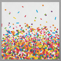 Creative Converting 324665 Confetti Sprinkles 2-Ply Beverage Napkins - 192/Case