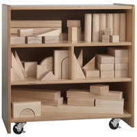 Whitney Brothers WB0510 Children's Small Wood Storage Cart - 25 inch x 14 inch x 25 1/4 inch