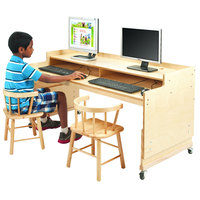Whitney Brothers WB0483 49 inch x 23 3/4 inch Adjustable Height Children's Wood Desk