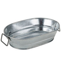 American Metalcraft MTUB69 9 inch x 6 inch x 2 1/4 inch Oval Galvanized Metal Tub