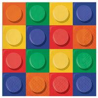Creative Converting 102050 Block Party 2-Ply Napkin - 192/Case