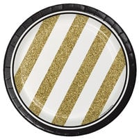 Creative Converting 317547 7 inch Black and Gold Paper Plate - 96/Case