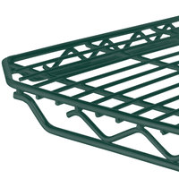 Metro 1436Q-DHG qwikSLOT Hunter Green Wire Shelf - 14 inch x 36 inch