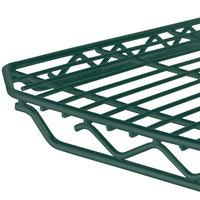 Metro 1436Q-DHG qwikSLOT Hunter Green Wire Shelf - 14 inch x 36 inch