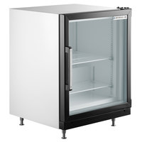 Beverage-Air CF3HC-1-W White Countertop Display Freezer with Swing Door