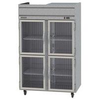 Beverage-Air HR2-1HG Horizon Series 52 inch Top Mounted Half Glass Door Reach-In Refrigerator