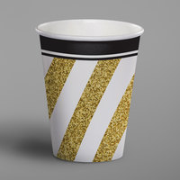 Creative Converting 317549 9 oz. Black and Gold Paper Hot / Cold Cup - 96/Case