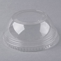 Fabri-Kal DLKC16/24S Kal-Clear / Nexclear 12 / 14, 16 / 18, 20, and 24 oz. Clear Plastic Squat Dome Lid with 1 3/4 inch Hole - 100/Pack