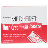 Medique 26073 Medi-First .9 g Burn Cream Packet - 25/Box