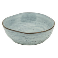 10 Strawberry Street FRZ-4CPBWL-BLU Firenza 6 oz. Blue Porcelain Coupe Snack Bowl - 24/Case