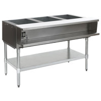 Eagle Group WT3-240 Three Pan Sealed Well Electric Water Bath Steam Table with Galvanized Open Base - 240V