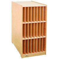 Whitney Brothers WB1757 Two-Sided Communication Station with Removable Partitions - 24 1/2 inch x 18 3/4 inch x 38 inch