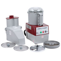 Robot Coupe R2 Dice Combination Continuous Feed Food Processor / Dicer with 3 Qt. Gray Polycarbonate Bowl - 2 hp