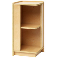 Whitney Brothers WB1792 Toddler-Height Storage Corner Cabinet - 11 11/16 inch x 11 3/4 inch x 24 inch