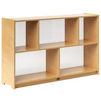 Whitney Brothers WB1789 Preschool Acrylic-Backed Storage Cabinet - 11 11/16 inch x 48 inch x 30 inch
