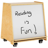Whitney Brothers WB1788 Mobile Big Book Display with Dry Erase Board - 19 11/16 inch x 23 1/2 inch x 26 inch