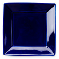 Tuxton BCH-0845 DuraTux 8 1/2 inch Cobalt Blue Square China Plate - 12/Case