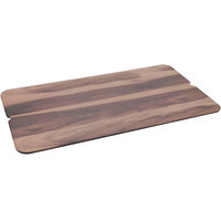 GET SB-2011-W Madison Avenue / Granville 20 inch x 11 inch Rectangular Faux Walnut Wood Melamine Display Board