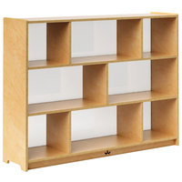 Whitney Brothers WB1797 School-Age Acrylic-Backed Storage Cabinet - 11 11/16 inch x 48 inch x 36 inch
