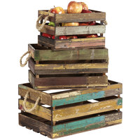 GET WB-1-SET-RWD 3-Piece Reclaimed Wood Rectangular Display Crate Set