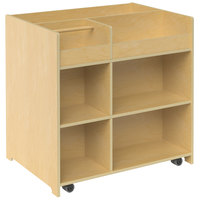 Whitney Brothers WB1758 Mobile Deluxe Art Supply Storage Cart - 24 3/16 inch x 33 inch x 33 inch
