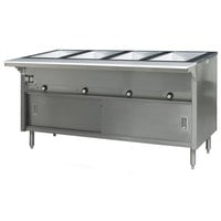 Eagle Group HT4CB-240 Spec Master Series Four Pan Open Well Electric Hot Food Table with Sliding Doors - 240V