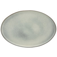 10 Strawberry Street FRZ-16OV-BLU Firenza 15 5/8 inch Blue Porcelain Oval Platter - 6/Case