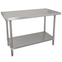 Advance Tabco VSS-243 24 inch x 36 inch 14 Gauge Stainless Steel Work Table with Stainless Steel Undershelf
