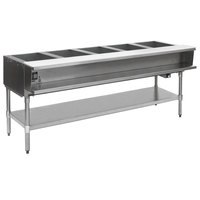 Eagle Group WT5-240 Five Pan Sealed Well Electric Water Bath Steam Table with Galvanized Open Base - 240V