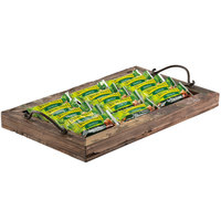 GET WB-1912-RWD Reclaimed Wood Rectangular Serving Tray with Metal Handles