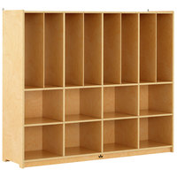 Whitney Brothers WB1817 16-Cubby Rest Mat Storage Cabinet - 15 1/2 inch x 60 inch x 50 1/2 inch