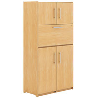 Whitney Brothers WB1819 Teacher's Convertible Work Station Cabinet - 18 11/16 inch x 36 1/2 inch x 70 inch