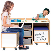 Whitney Brothers WB1679 3-Piece STEM Activity Desk and Mobile Bin Set - 19 1/2 inch x 48 1/2 inch x 24 inch