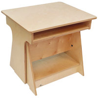 Whitney Brothers WB1727 Convertible Standing Children's Desk - 19 11/16 inch x 24 1/2 inch x 22 inch