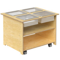 Whitney Brothers WB1775 Mobile Multipurpose Sensory Table with Removable Trays and Lids - 27 inch x 33 inch x 24 1/2 inch