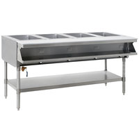 Eagle Group SHT4-240-3 Four Pan Sealed Well Stationary Hot Food Table with Undershelf - 240V, 3 Phase