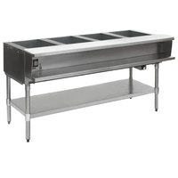Eagle Group WT4-240 Four Pan Sealed Well Electric Water Bath Steam Table with Galvanized Open Base - 240V