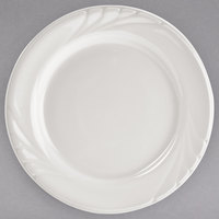 Tuxton YEA-072 Monterey 7 1/4 inch Eggshell Embossed Rim China Plate - 36/Case