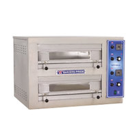 Bakers Pride EB-2-2828 Double Deck Countertop Electric Pizza Deck Oven - 220/240V, 3 Phase